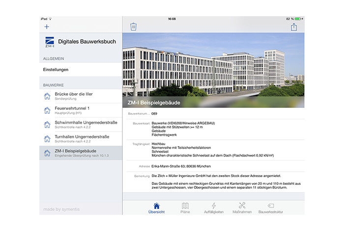 Screenshot: iPad App Assessment of Buildings